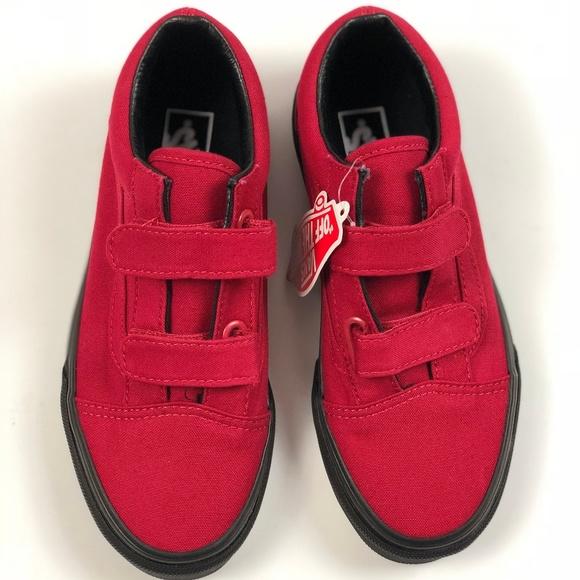 978eeae4a8f Vans Old Skool V Black Sole Jester Red